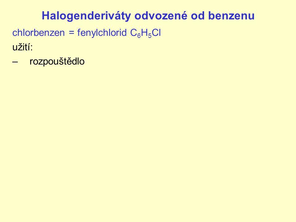 Halogenderiváty odvozené od benzenu