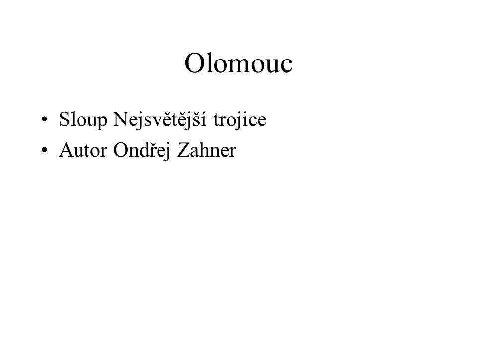 Olomouc Sloup Nejsvětější trojice Autor Ondřej Zahner