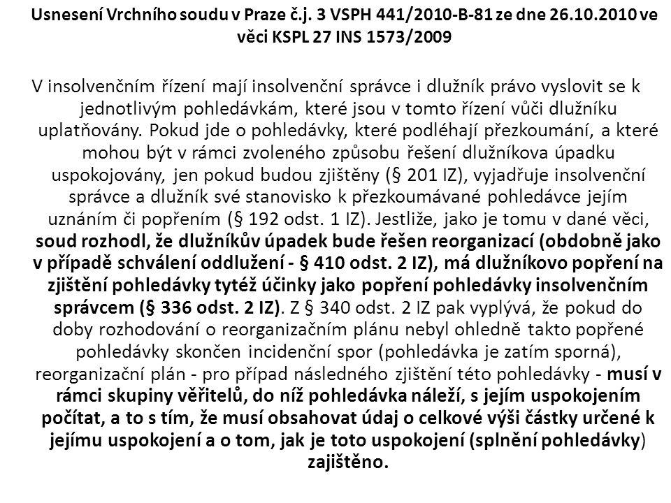 Usnesení Vrchního soudu v Praze č. j. 3 VSPH 441/2010-B-81 ze dne 26