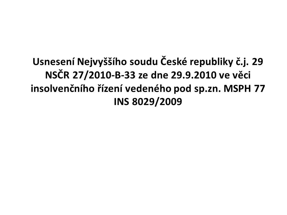 Usnesení Nejvyššího soudu České republiky č. j