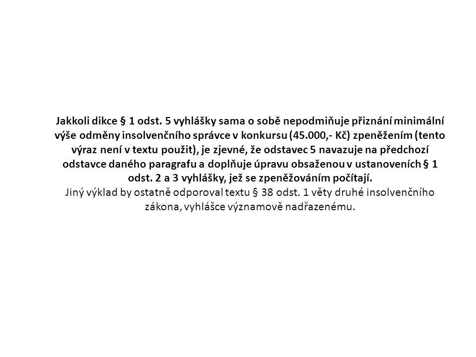 Jakkoli dikce § 1 odst.