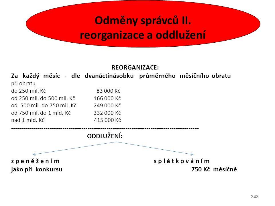 reorganizace a oddlužení