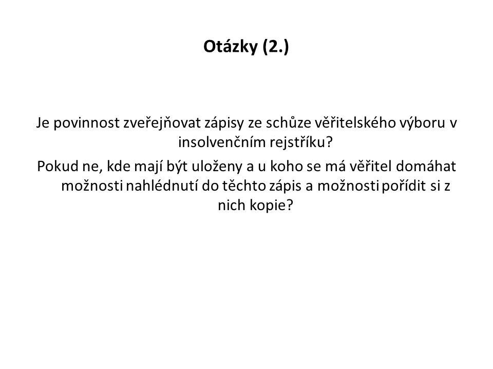 Otázky (2.)