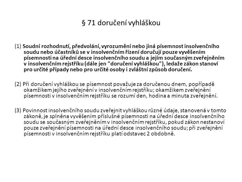 § 71 doručení vyhláškou