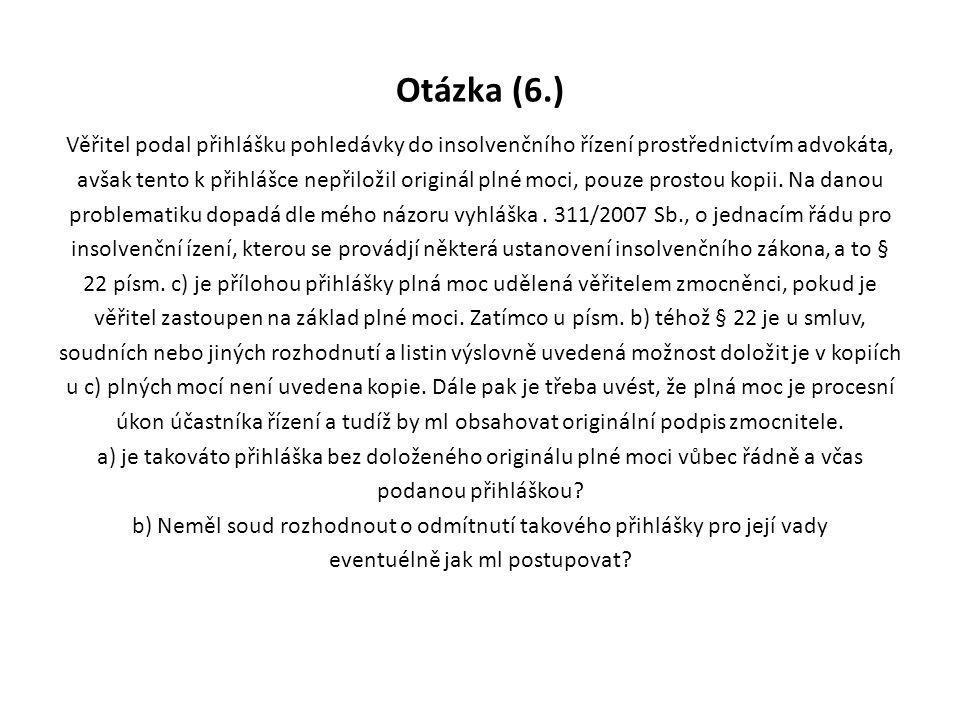 Otázka (6.)