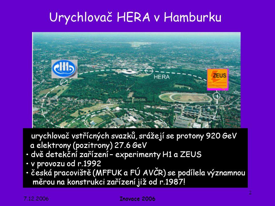 Urychlovač HERA v Hamburku