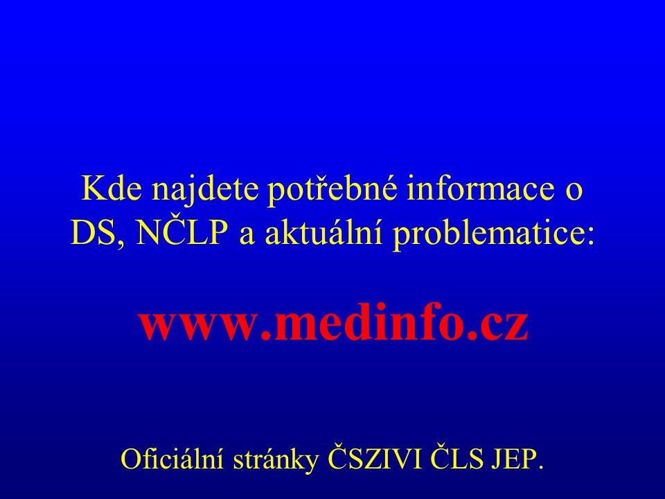 Kde najdete potřebné informace o DS, NČLP a aktuální problematice: