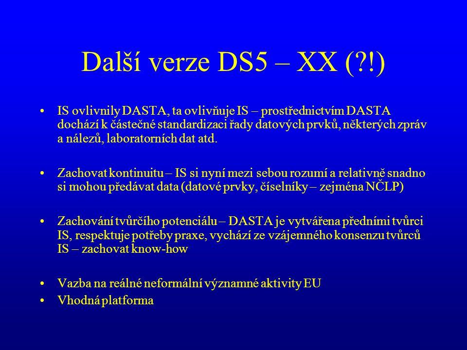 Další verze DS5 – XX ( !)