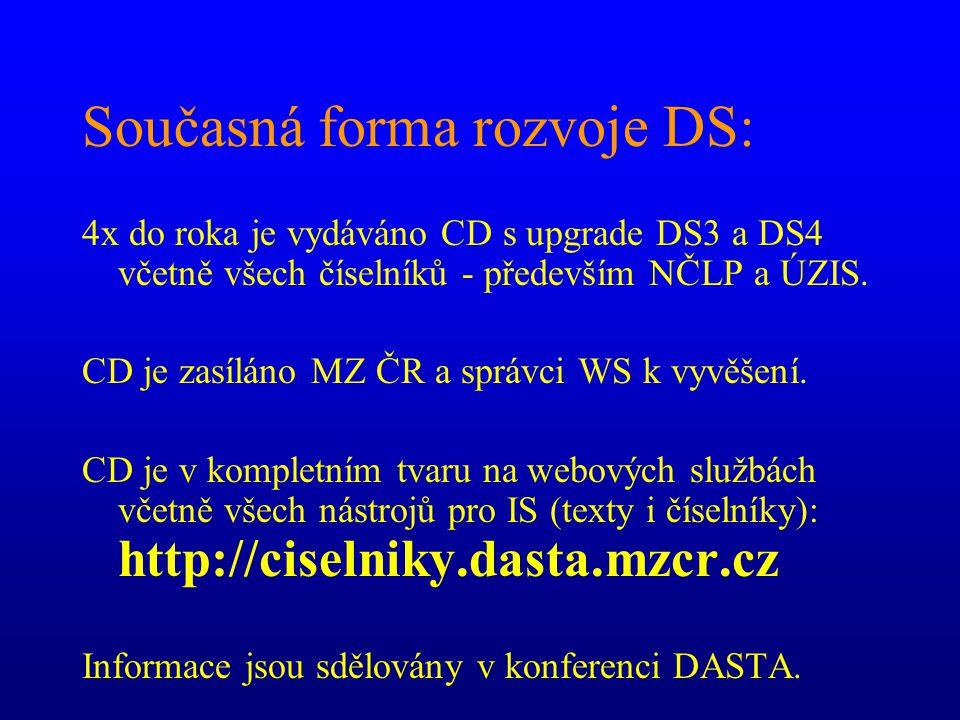 Současná forma rozvoje DS: