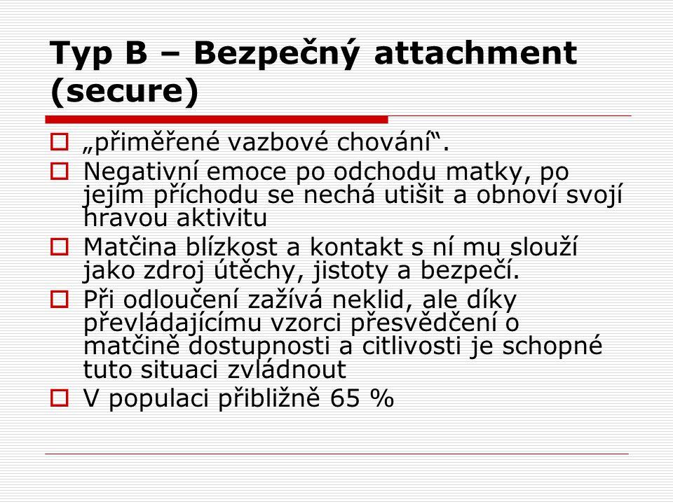 Typ B – Bezpečný attachment (secure)
