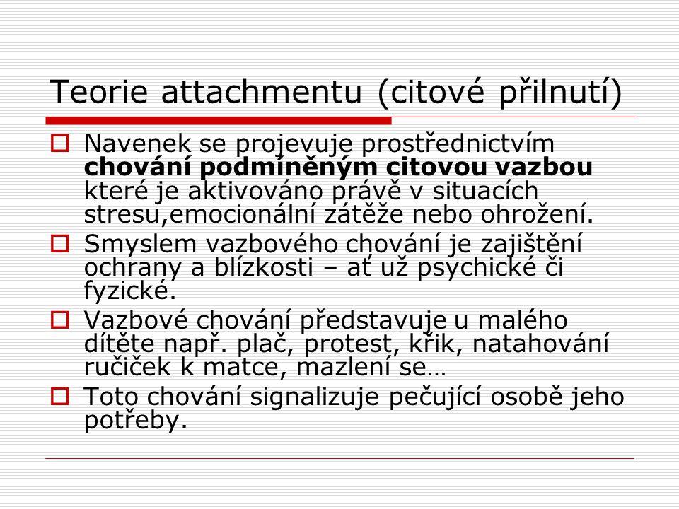Teorie attachmentu (citové přilnutí)