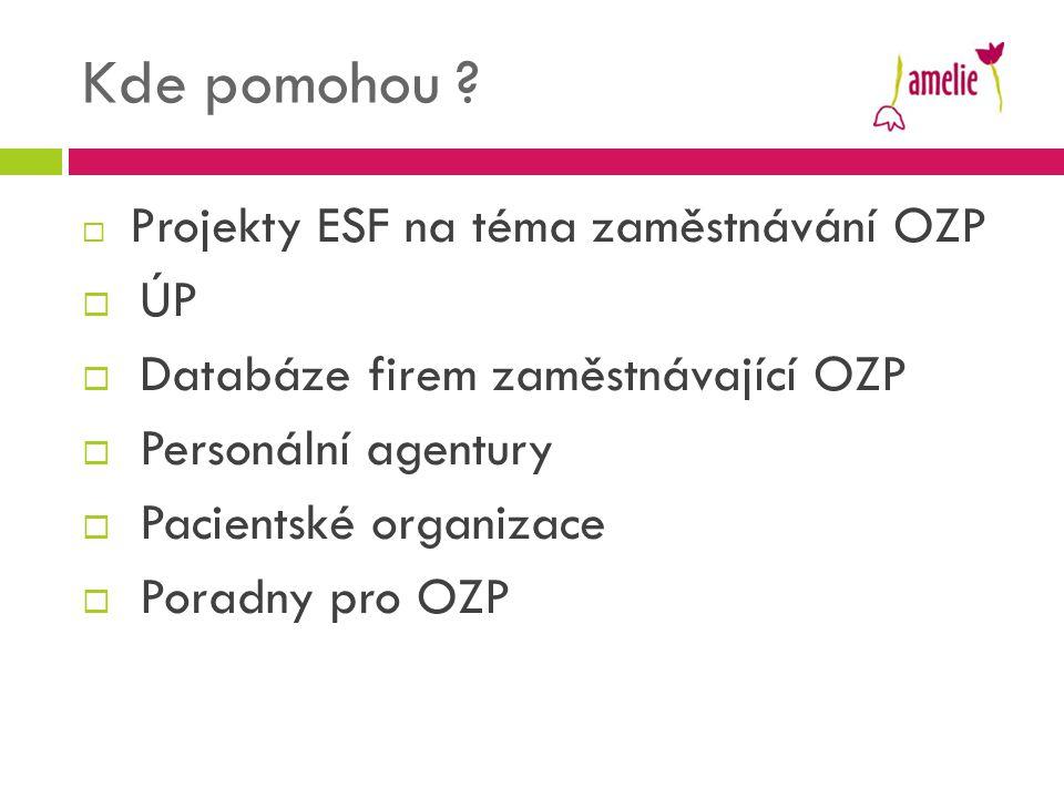 Kde pomohou ÚP Databáze firem zaměstnávající OZP Personální agentury