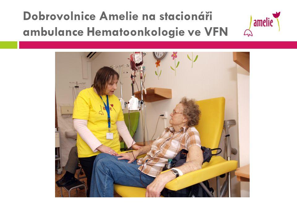 Dobrovolnice Amelie na stacionáři ambulance Hematoonkologie ve VFN