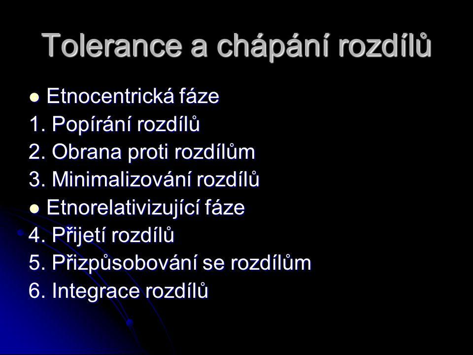 Tolerance a chápání rozdílů