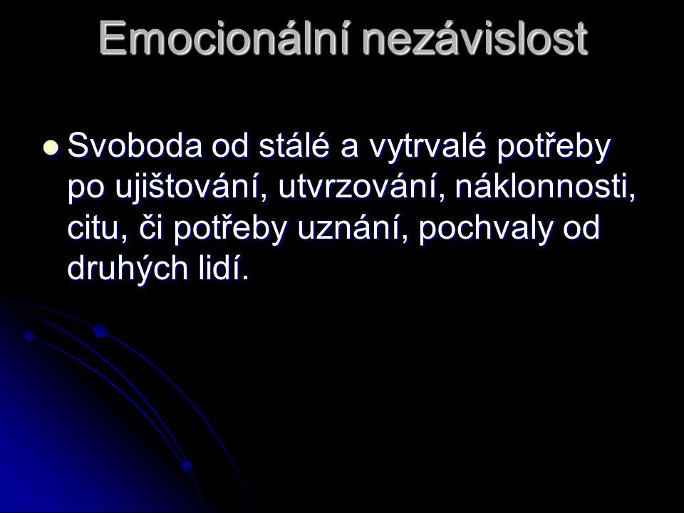 Emocionální nezávislost