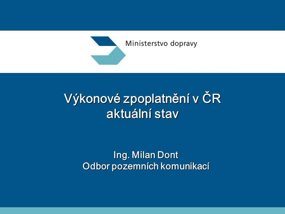 Výkonové zpoplatnění v ČR aktuální stav