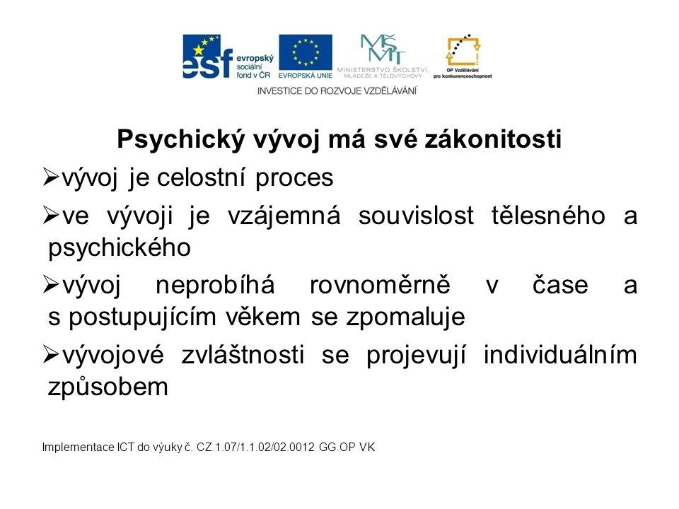 Psychický vývoj má své zákonitosti