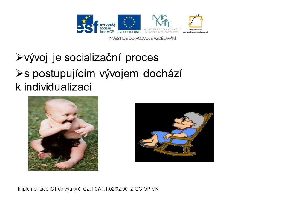 vývoj je socializační proces