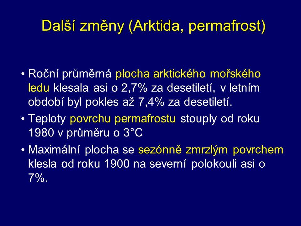 Další změny (Arktida, permafrost)
