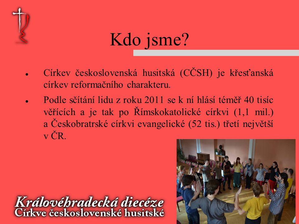 Kdo jsme Církev československá husitská (CČSH) je křesťanská církev reformačního charakteru.
