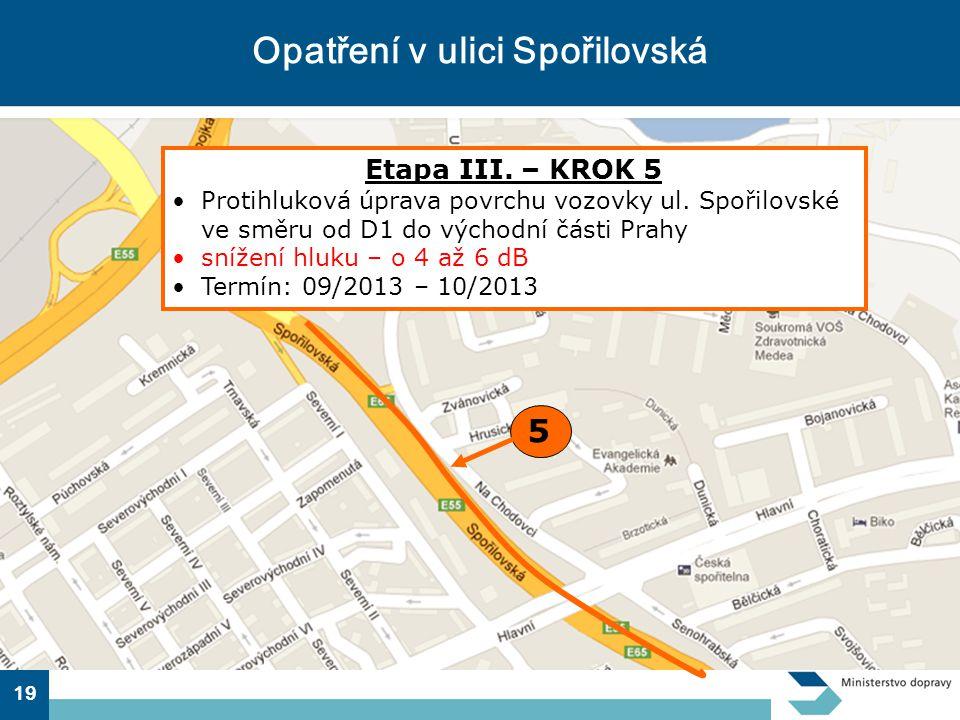 Opatření v ulici Spořilovská