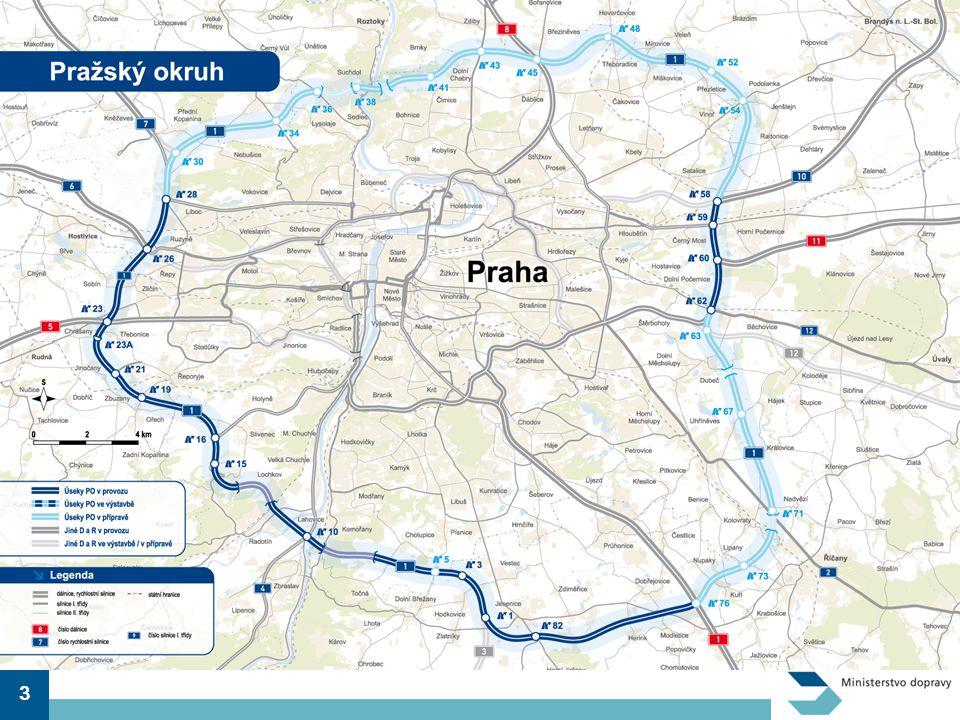 Celková plánovaná podoba Pražského okruhu.