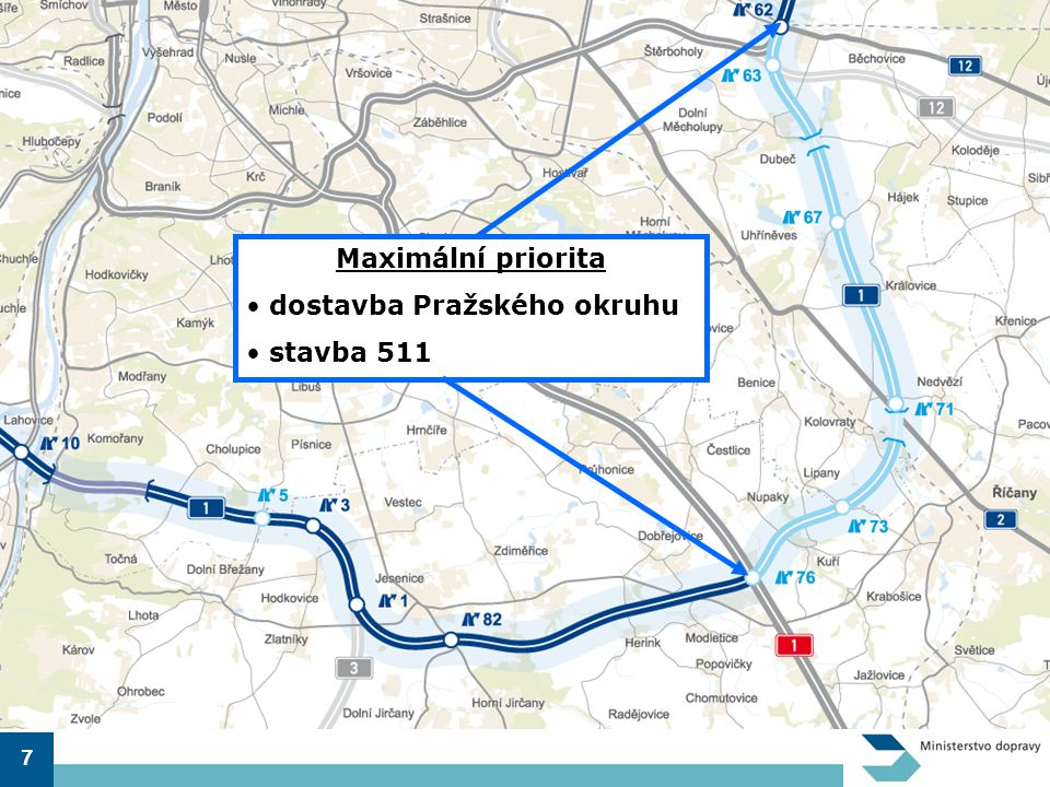 dostavba Pražského okruhu stavba 511