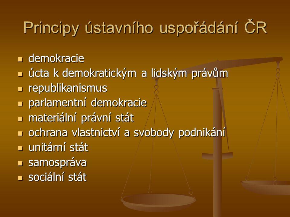 Principy ústavního uspořádání ČR
