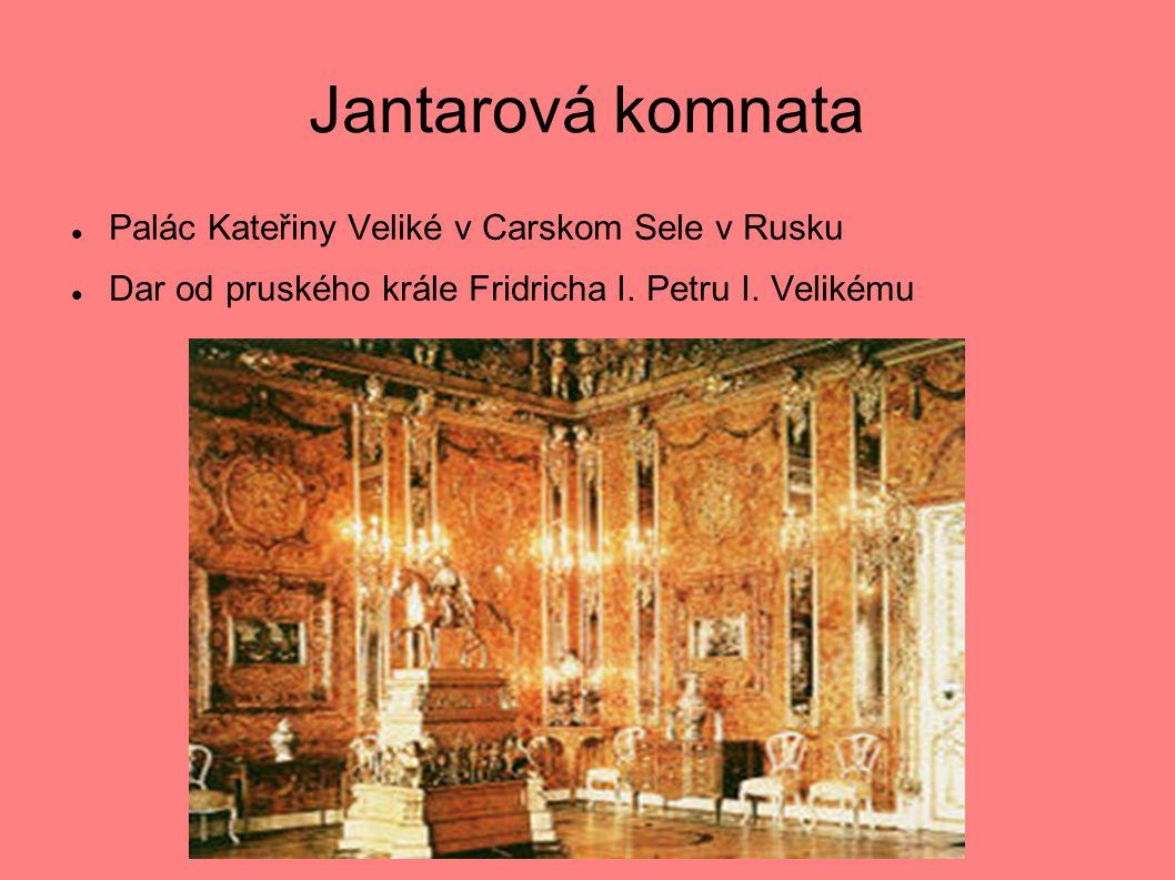 Jantarová komnata Palác Kateřiny Veliké v Carskom Sele v Rusku