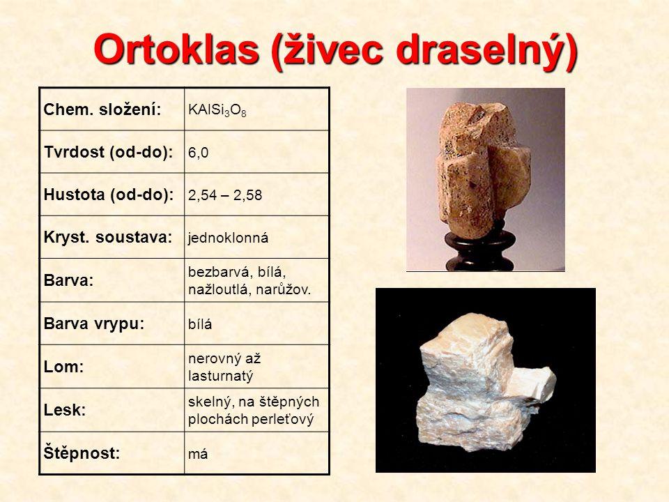 Ortoklas (živec draselný)