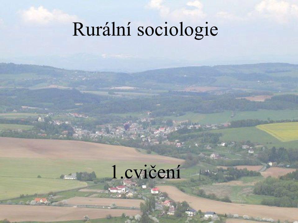 Rurální sociologie cvičení