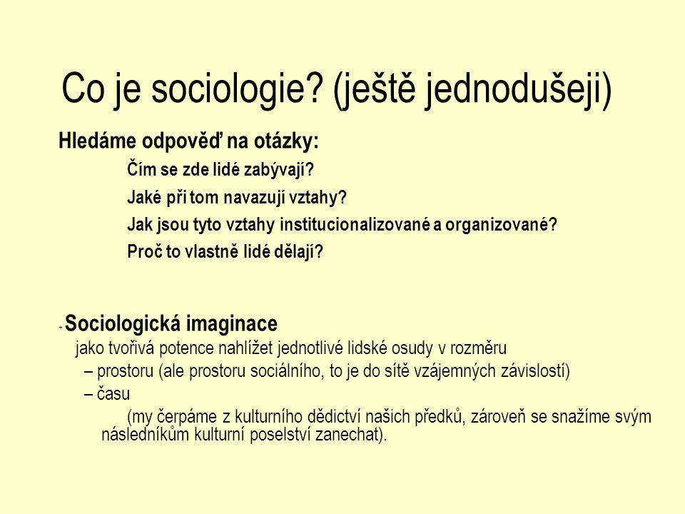 Co je sociologie (ještě jednodušeji)