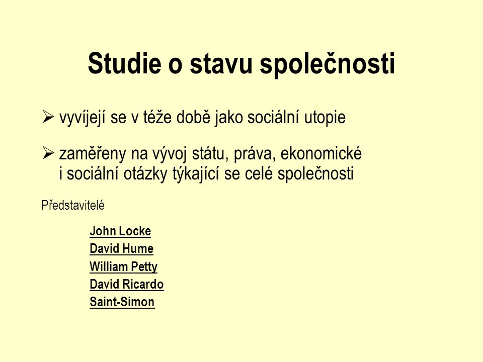 Studie o stavu společnosti