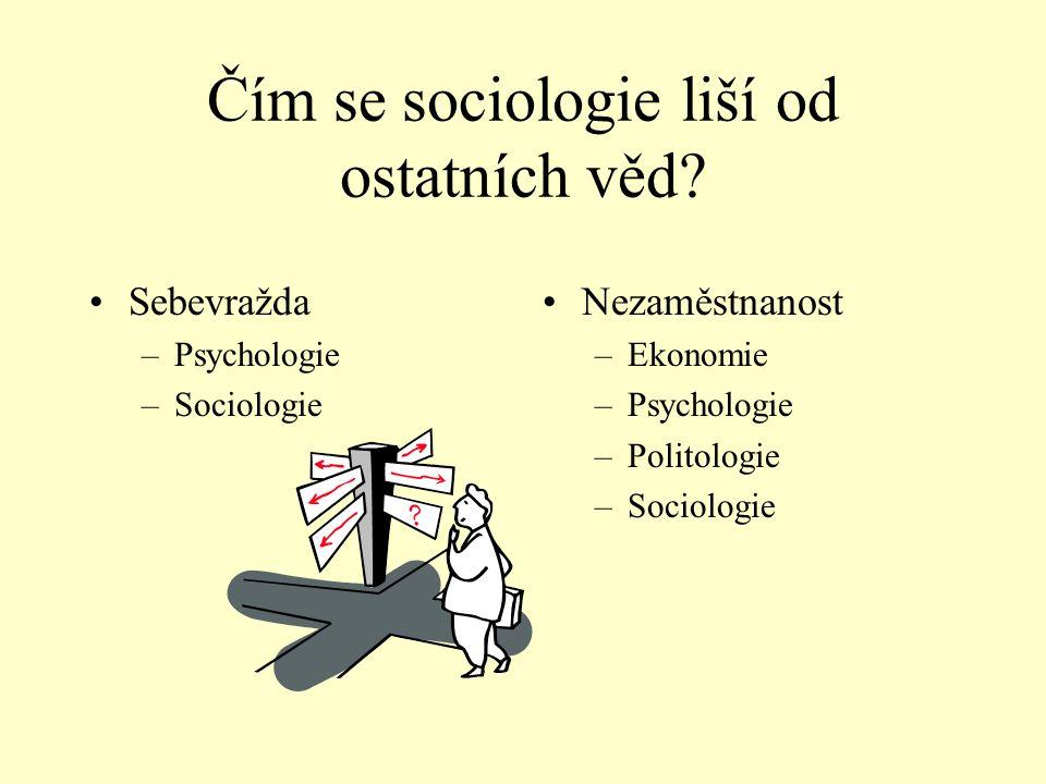 Čím se sociologie liší od ostatních věd