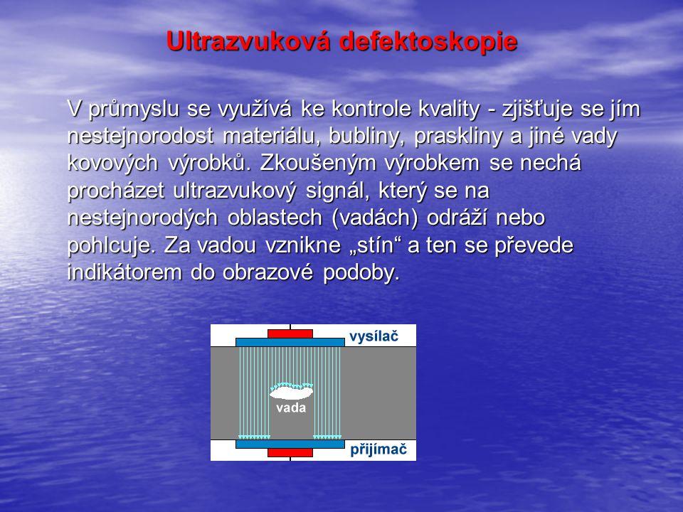 Ultrazvuková defektoskopie