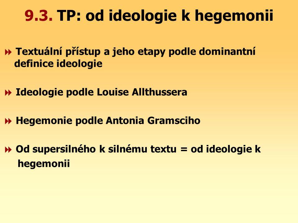 9.3. TP: od ideologie k hegemonii
