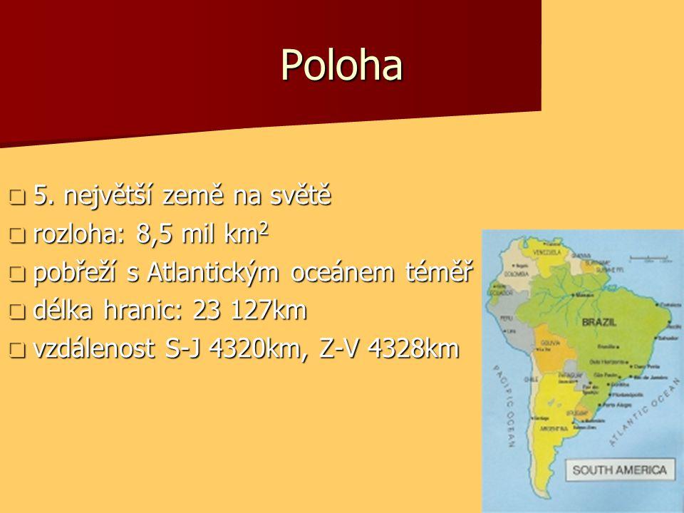 Poloha 5. největší země na světě rozloha: 8,5 mil km2