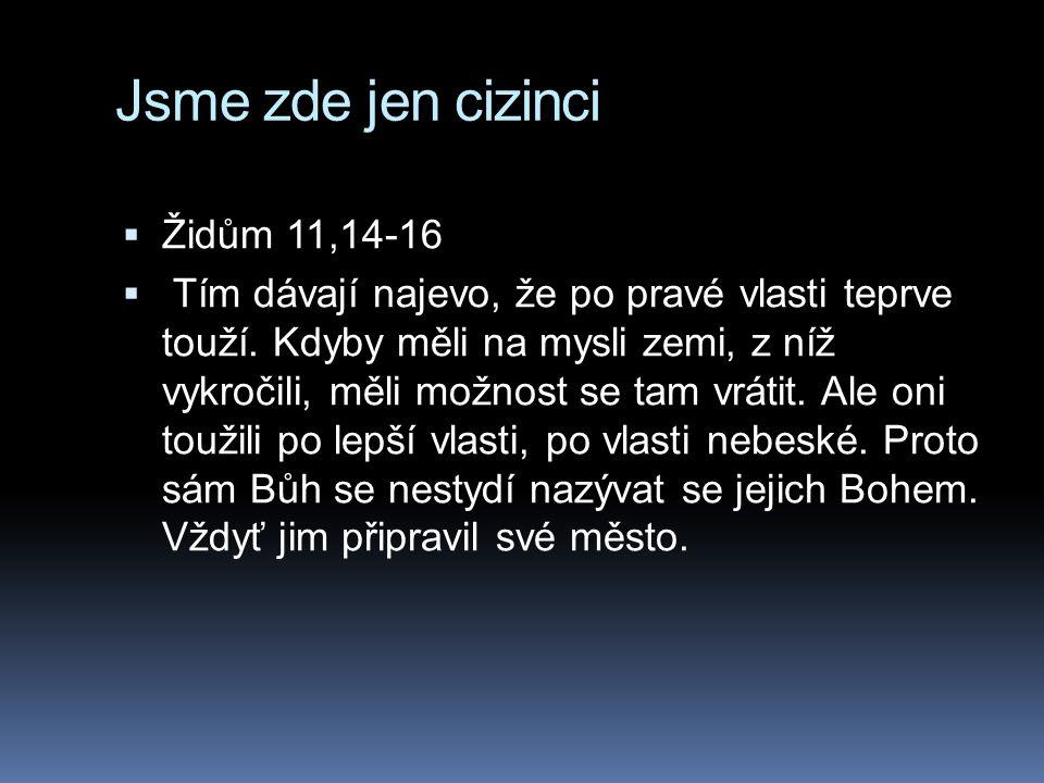 Jsme zde jen cizinci Židům 11,14-16