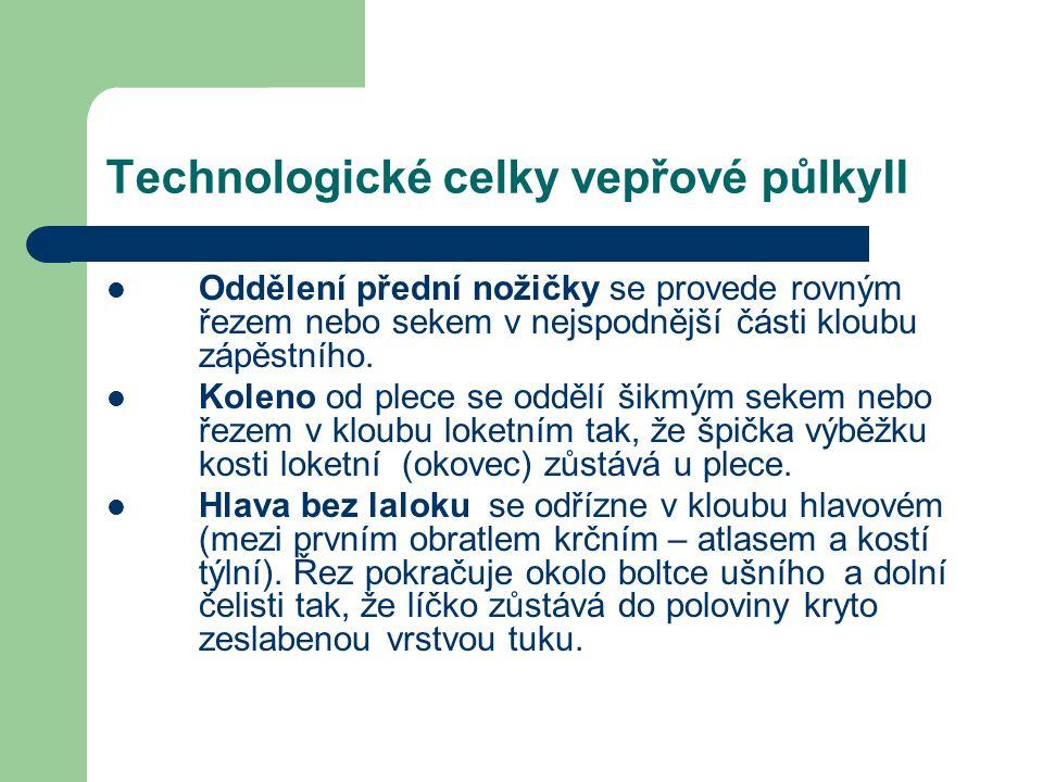Technologické celky vepřové půlkyII