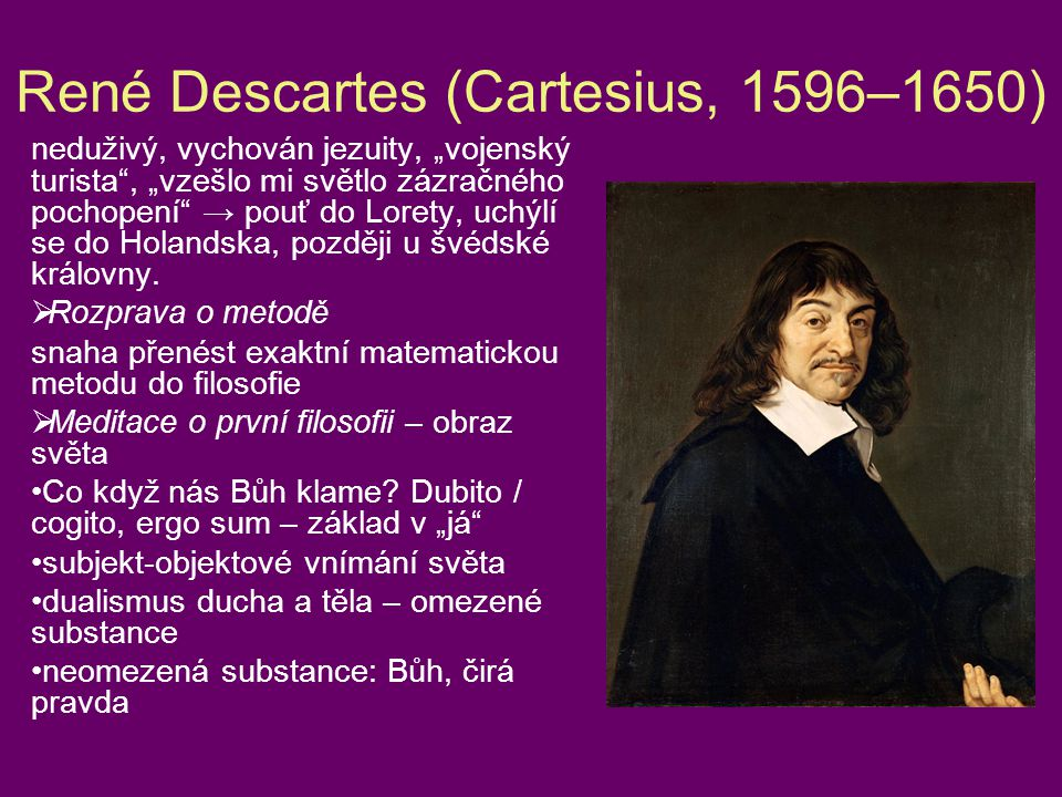 René Descartes (Cartesius, 1596–1650)