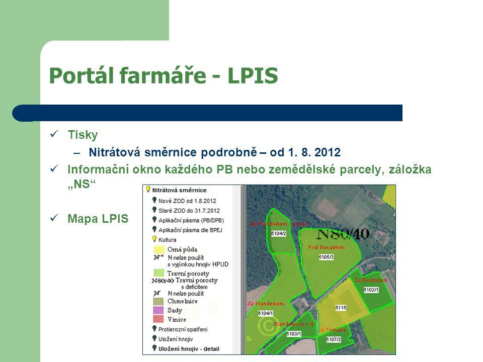 Portál farmáře - LPIS Tisky