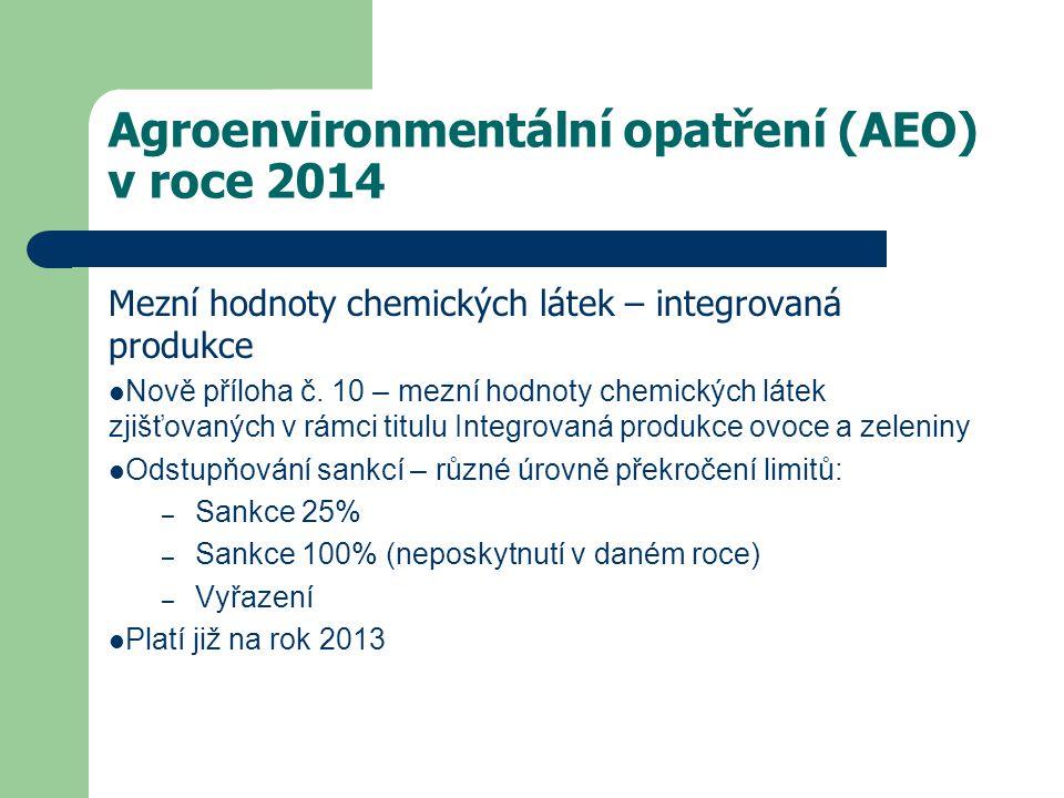 Agroenvironmentální opatření (AEO) v roce 2014