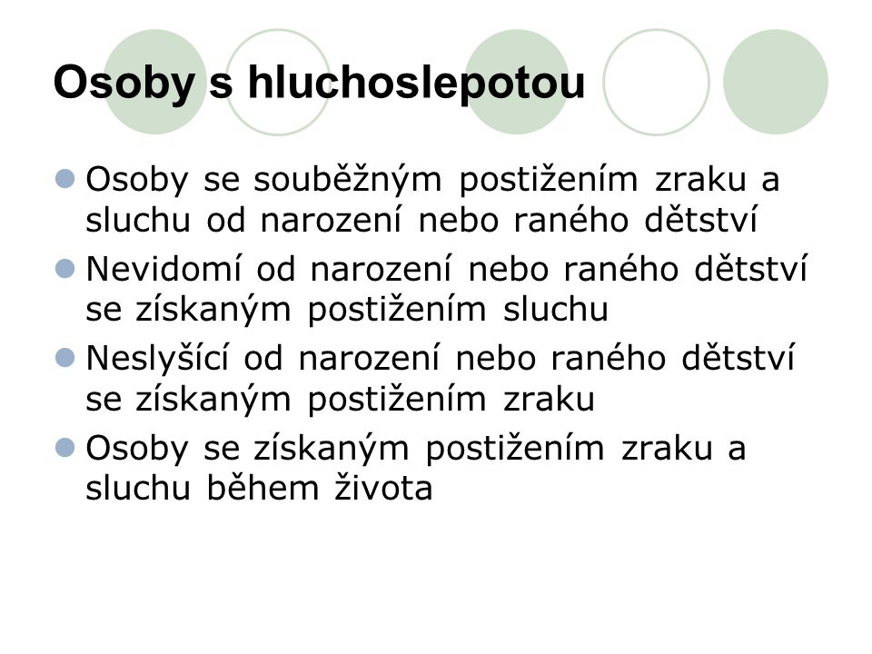 Osoby s hluchoslepotou
