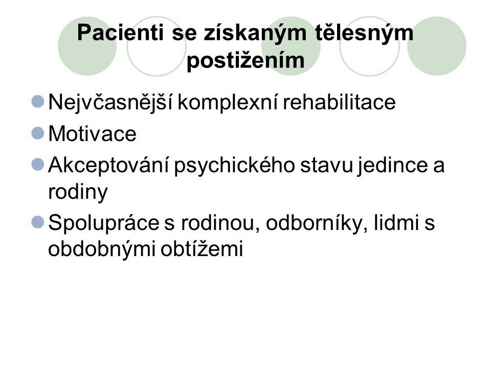 Pacienti se získaným tělesným postižením