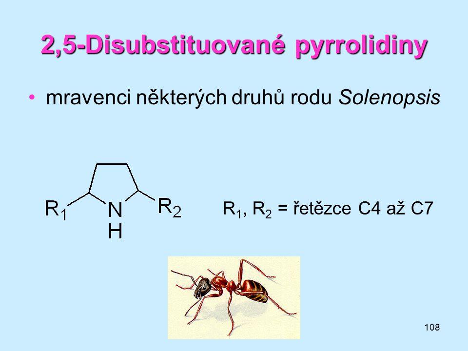 2,5-Disubstituované pyrrolidiny