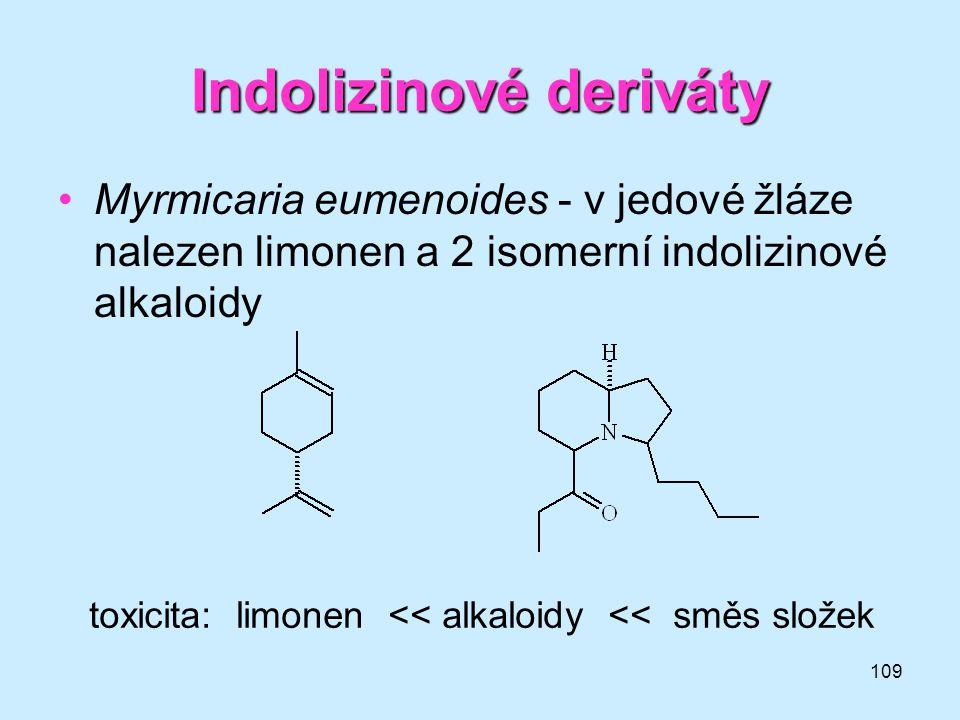 Indolizinové deriváty
