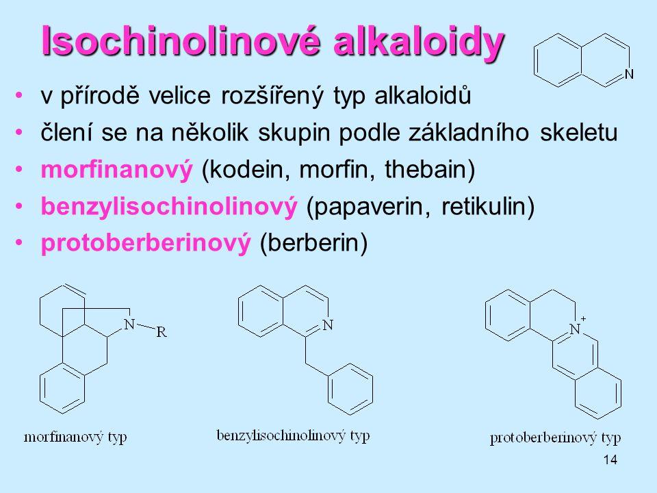 Isochinolinové alkaloidy