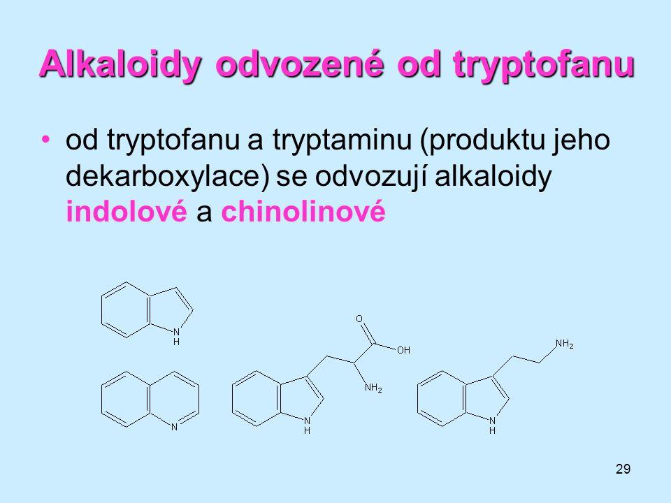 Alkaloidy odvozené od tryptofanu