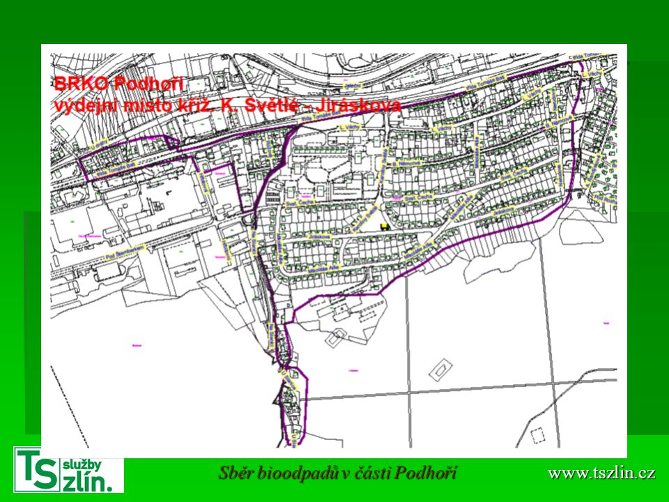 Sběr bioodpadů v části Podhoří