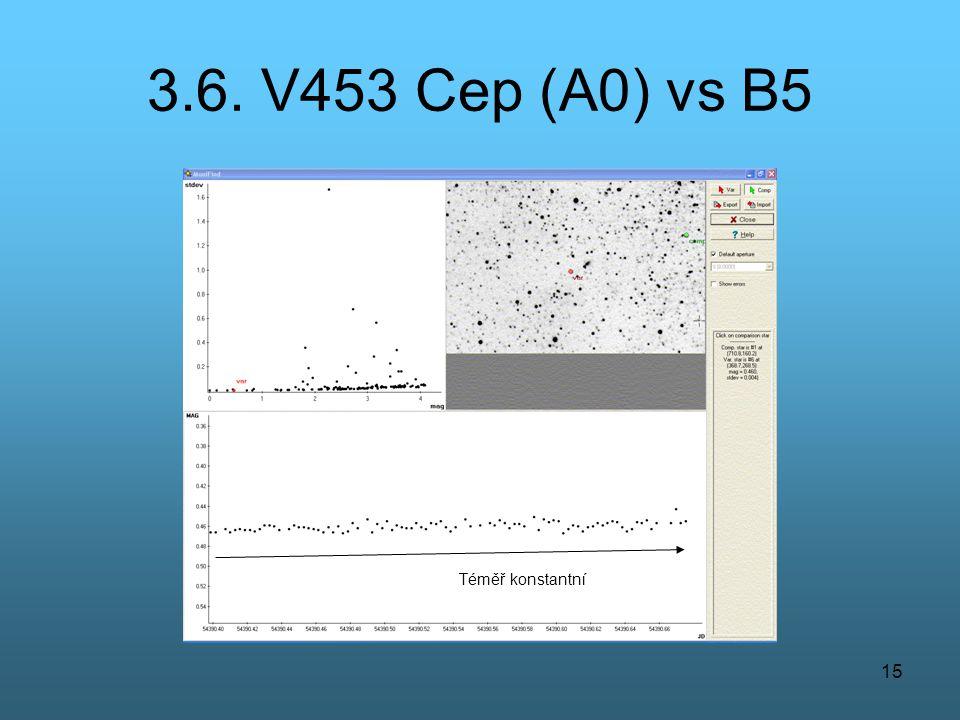 3.6. V453 Cep (A0) vs B5 Téměř konstantní